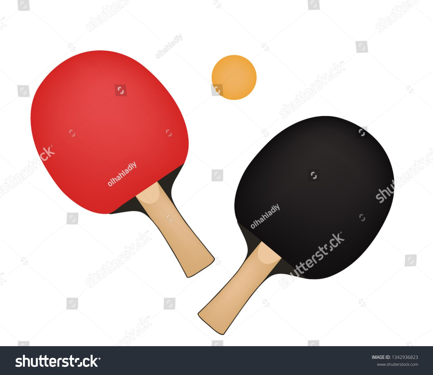 Rackets For Table Tennis With Ball Ping Pong Vector Illustration Ad Sponsored Tennis Ball Rackets Table Table Tennis Presentation Design Ping Pong
