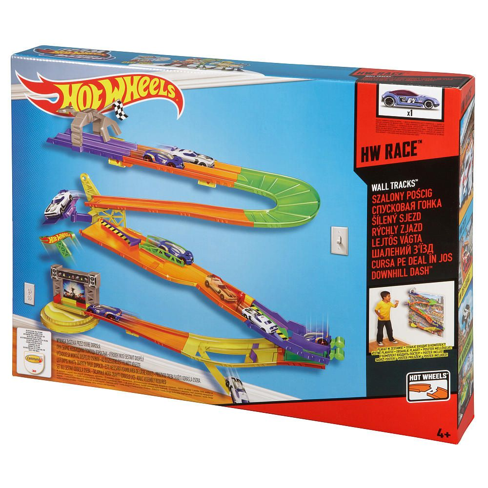 Hot Wheels Race Downhill Dash Track Set Arco Toys Toys R Us
