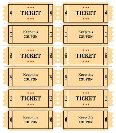 Numbered Raffle Ticket Template Free 15 Free Raffle Ticket Templatesfollow These Steps To Create Your .