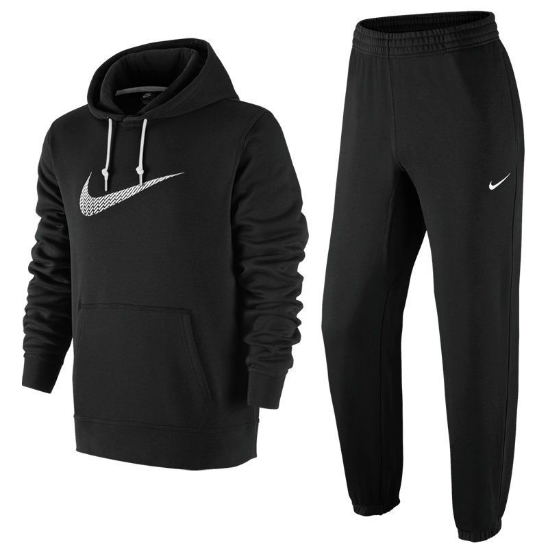 d66d0d7938b1 Nike Mens Big Swoosh Black Tracksuit Fleece Hooded Jogging Bottoms S M L XL  !!! ONLY £62.95 !!! FREE UNITED KINGDOM POSTAGE !!!