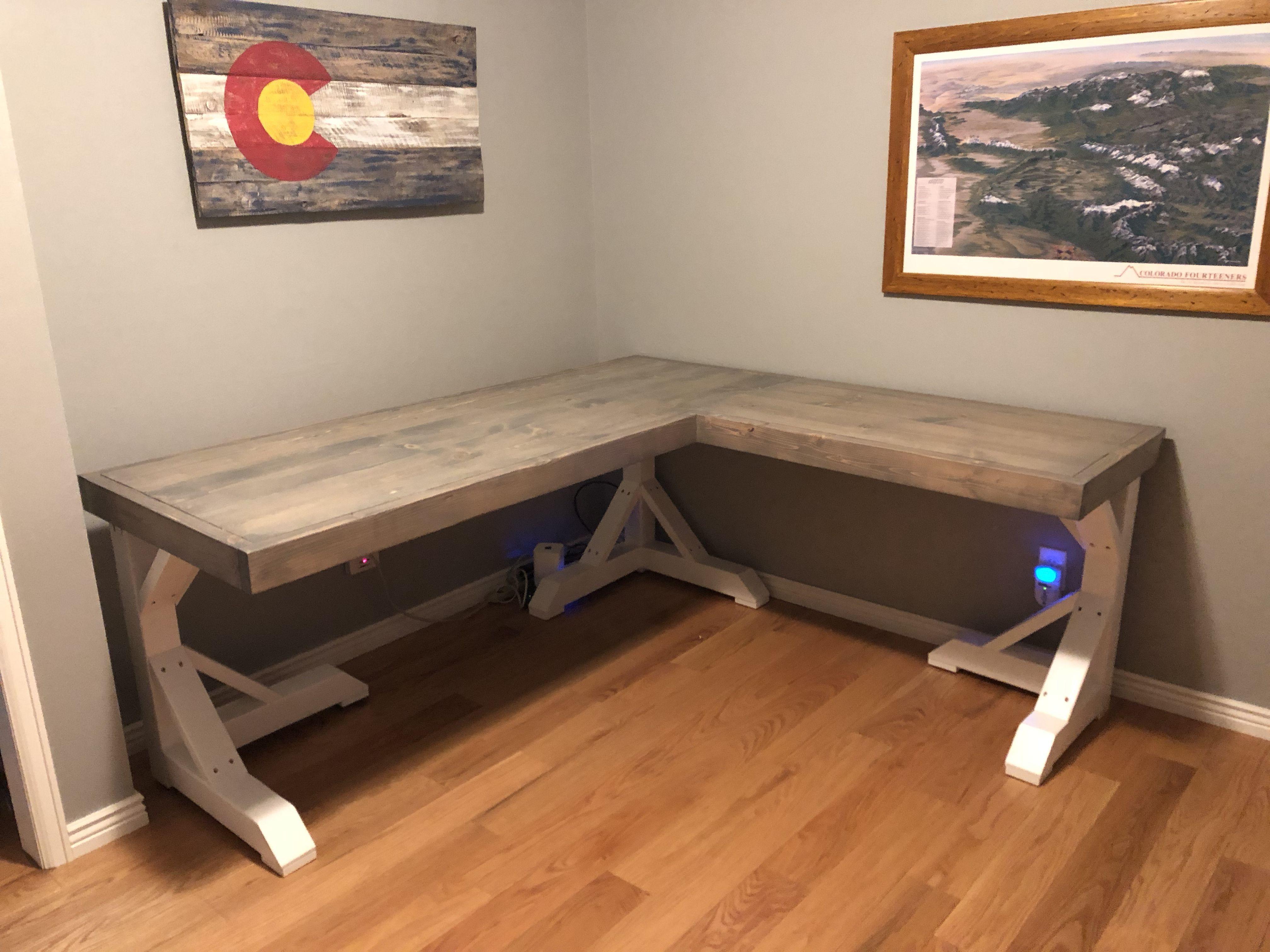 Home Office Modern L Shaped Desk Us 360 Free Rotating Corner Desk With Shelves Affilink Desk Desksetup Ho Diy Corner Desk Diy Office Desk Diy Computer Desk