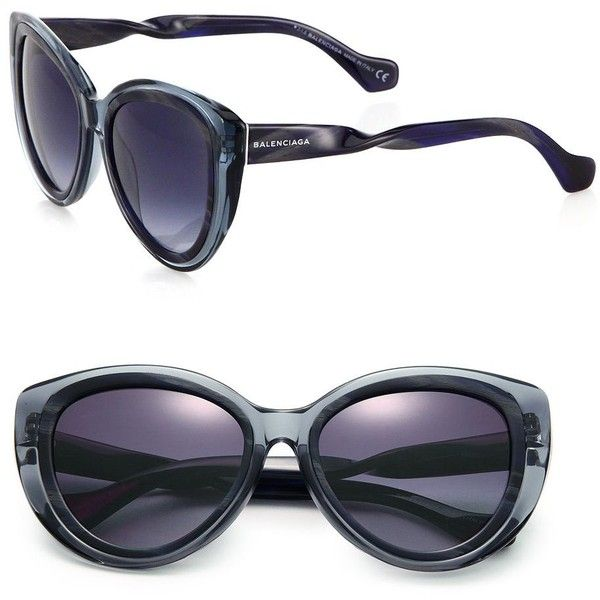 4dfd22c6bbf4 Balenciaga Twisted Arm 58MM Modified Cat s-Eye Sunglasses (492 CAD) ❤ liked  on