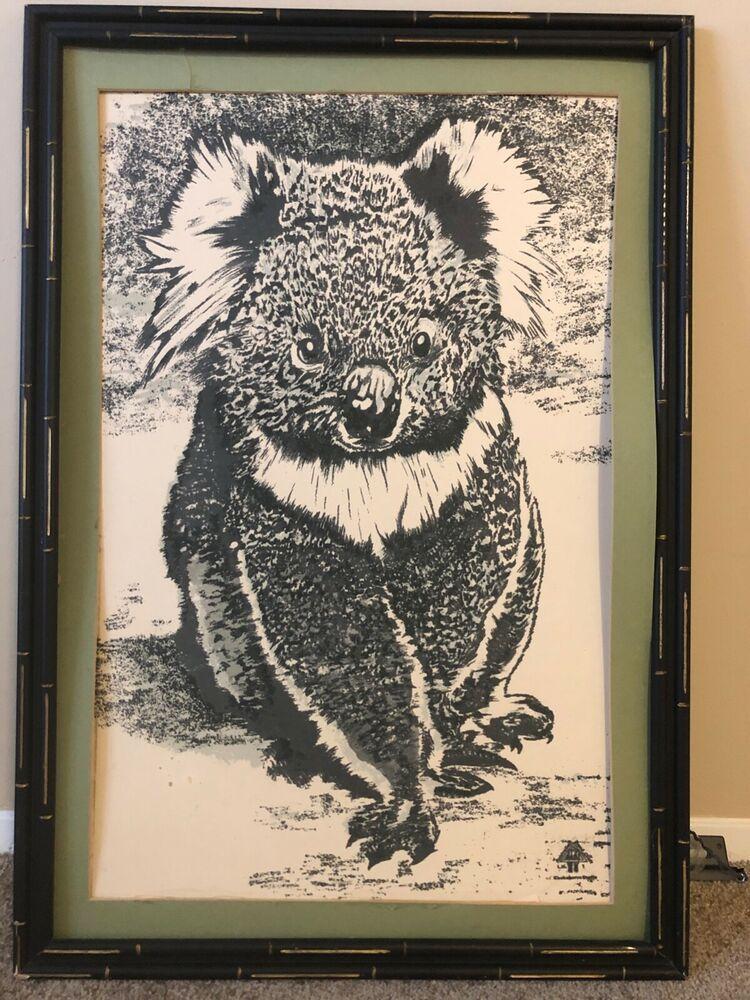 Austrailian Handcraft Koala In Frame Koala Art Koala Art 280 00 0 Bids End Date Friday Mar 15 2019 19 54 06 Pdt Bid Now Add To Art Koala Handcraft