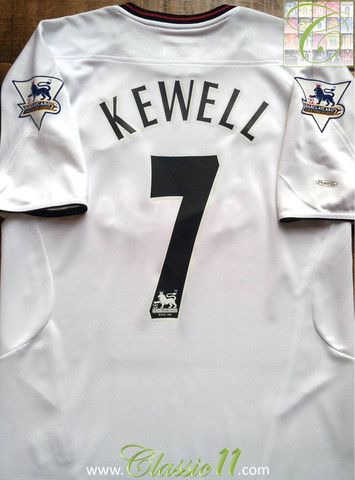 597203f1b Relive Harry Kewell s 2003 2004 Premier League season with this vintage  Reebok Liverpool away football shirt.