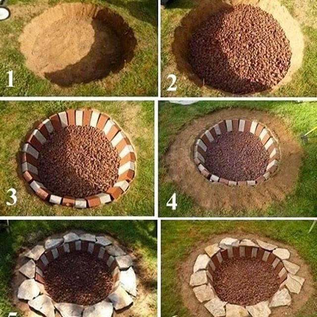 42+ awesome fire pit plans & ideas to make happy with your family 00051  craftIdea org is part of Rustic patio -