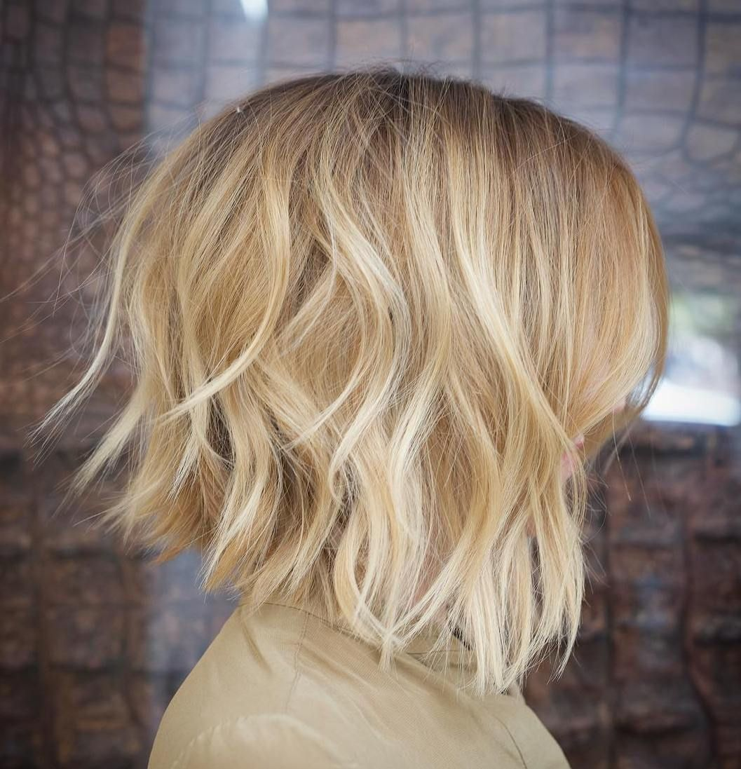 Disconnected Blonde Bob With Platinum Highlights In 2019