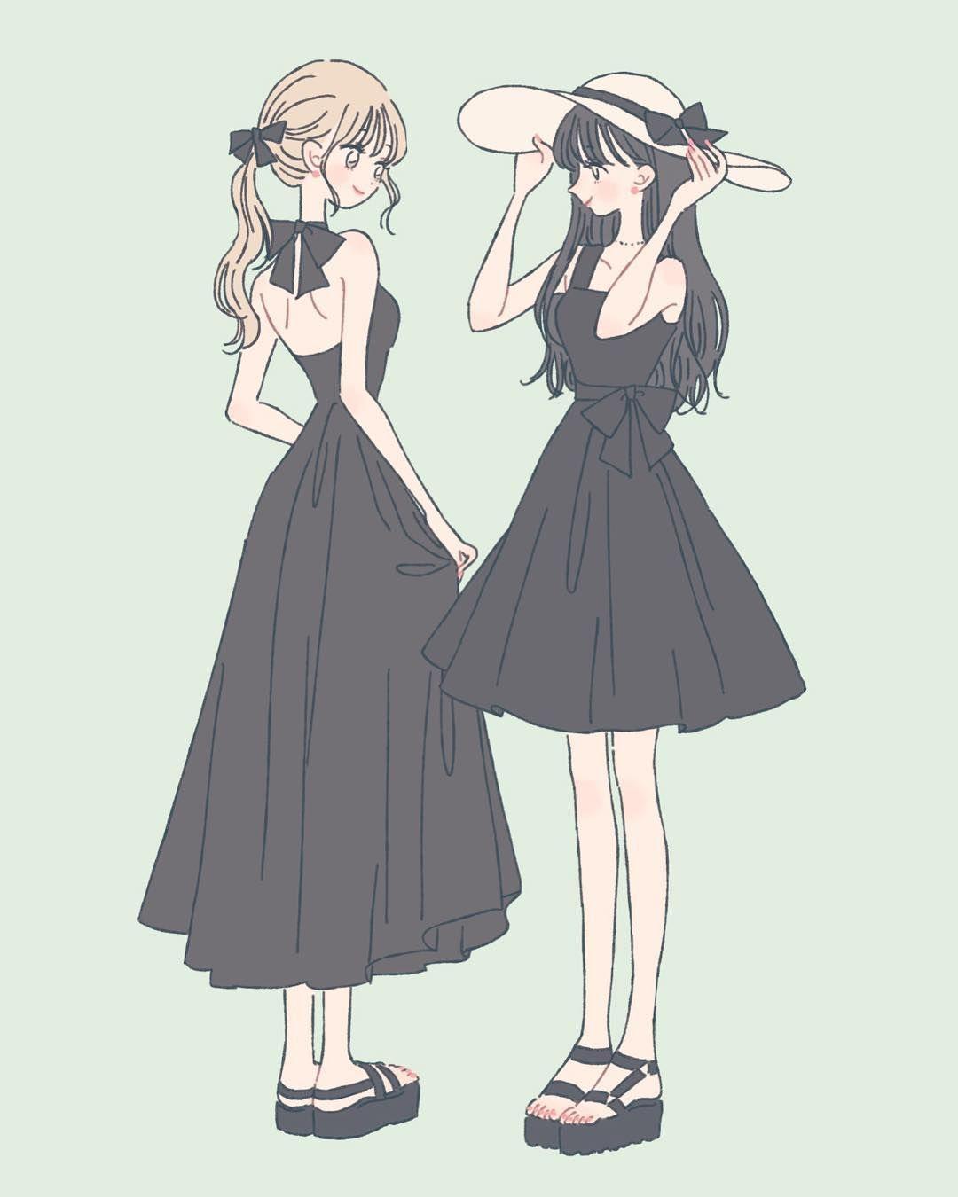 息抜き Illustration イラスト 女の子 ファッション