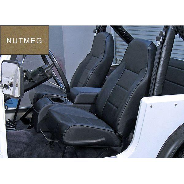 High Back Front Seat No Recline Nutmeg 76 02 Jeep Cj Wrangler