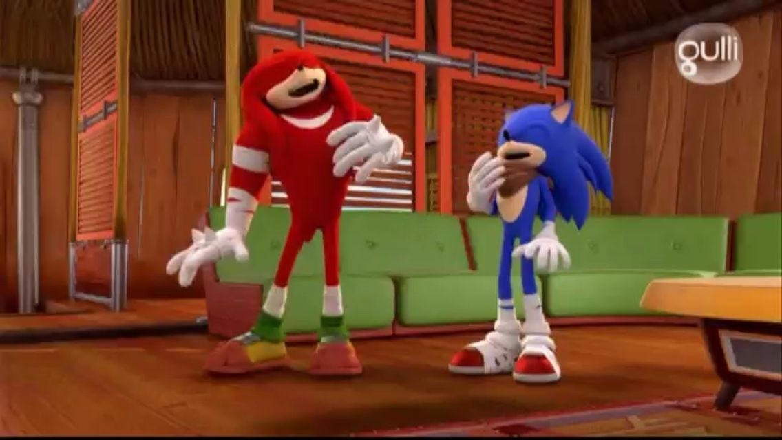 """""""Petition for more platonic Sonic and Knuckles moments in Sonic Boom """""""