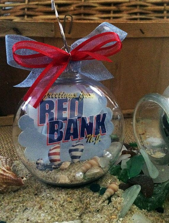 Red Bank New Jersey Shore Postcard Souvenir Christmas Ornament Unique Gift