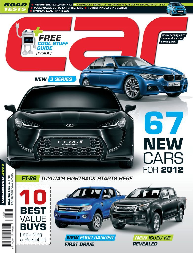 CAR is Southern Africa's leading automotive-interest magazine – and has been since 1957. It's aimed at petrol-heads of all ages looking for, expert reviews, road tests, driving impressions of the latest models available and great motoring content from the country's leading motoring journalists.