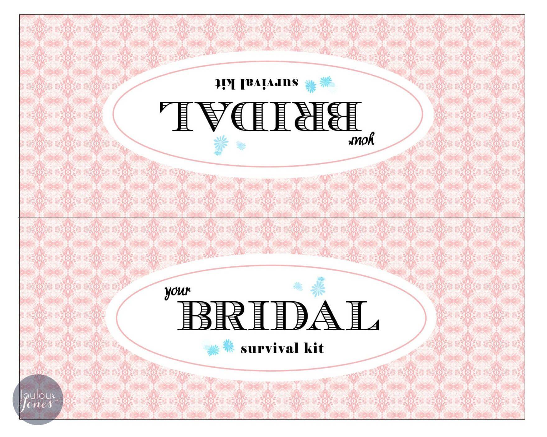 Bridal Survival Kit Free Printable