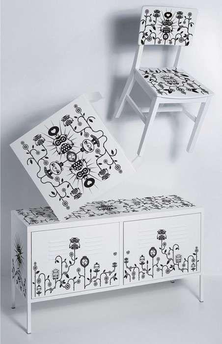 adesivi per mobili   not so white furniture   pinterest - Ikea Adesivi Per Mobili
