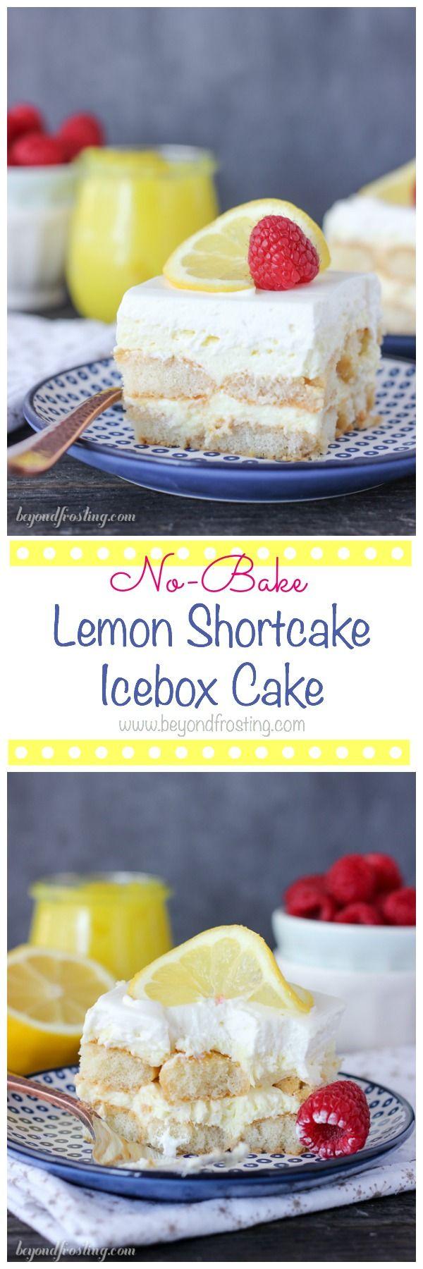 Lemon Icebox Cake With Ladyfingers