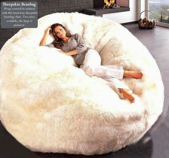 Sheepskin Beanbag chair #trendy #furniture | My bedroom