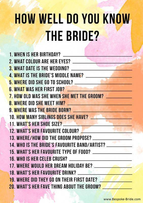 BRIDAL SHOWER / HEN / BACHELORETTE PARTY GAMES PACK