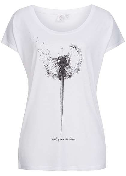 Eight2Nine Damen T Shirt Oversize Pusteblume Print by Fresh