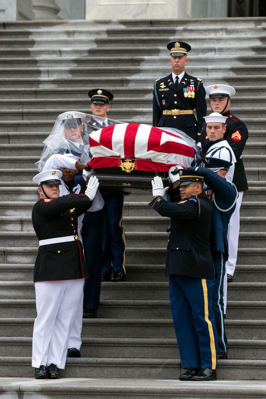U.S. Leaders minus Trump Bid McCain Final Farewell …Obama
