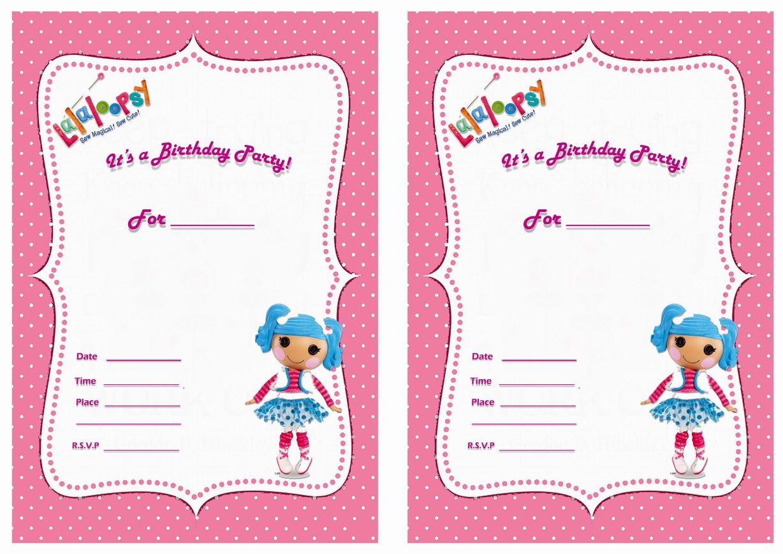 Lalaloopsy FREE Printable Birthday Party Invitations – Lalaloopsy Birthday Invitation