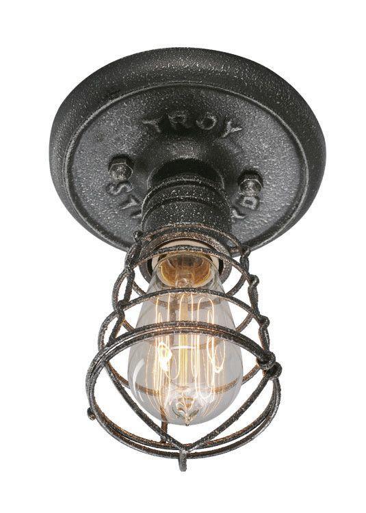 Troy Lighting Conduit 1 Light Flush Mount Wayfair Supply Plafonnier Encastre Eclairage Industriel Lampe Industrielle