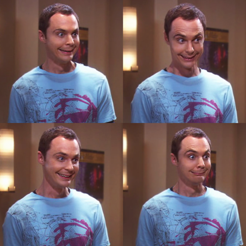 Image result for sheldon smile