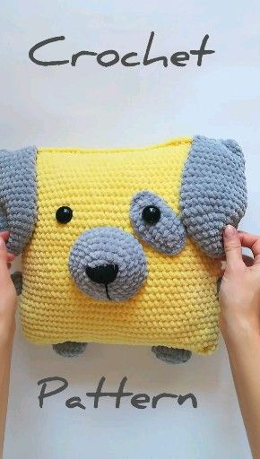 crochet pattern dog, amigurumi dog pattern, crochet pillow pattern, christmas crochet gift