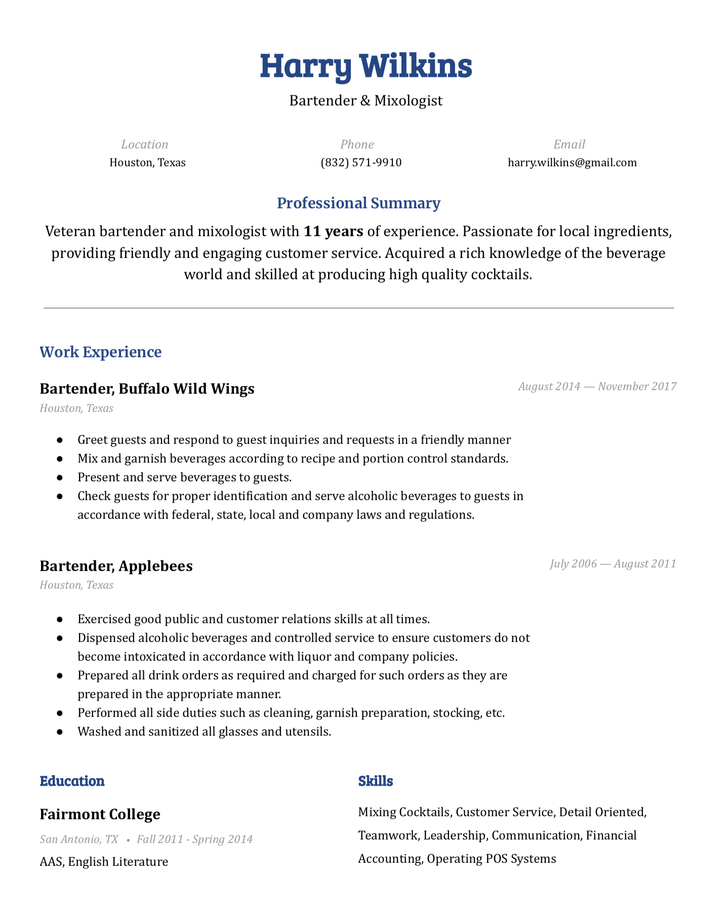 Pin on Easy Resume Examples & Templates