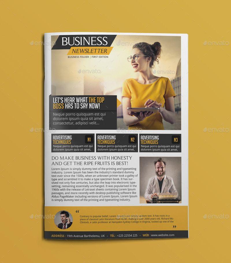 Business Newsletter #Business, #Newsletter Art Design Ideas