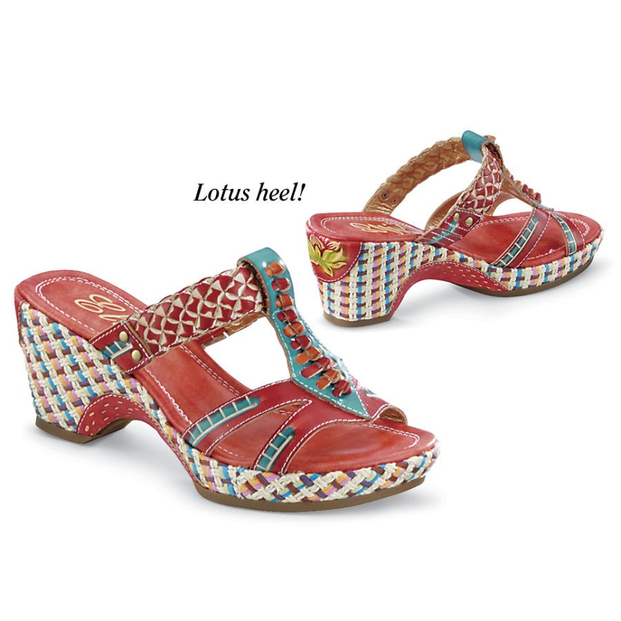 Lotus Platform Shoes - Women's Clothing & Symbolic Jewelry