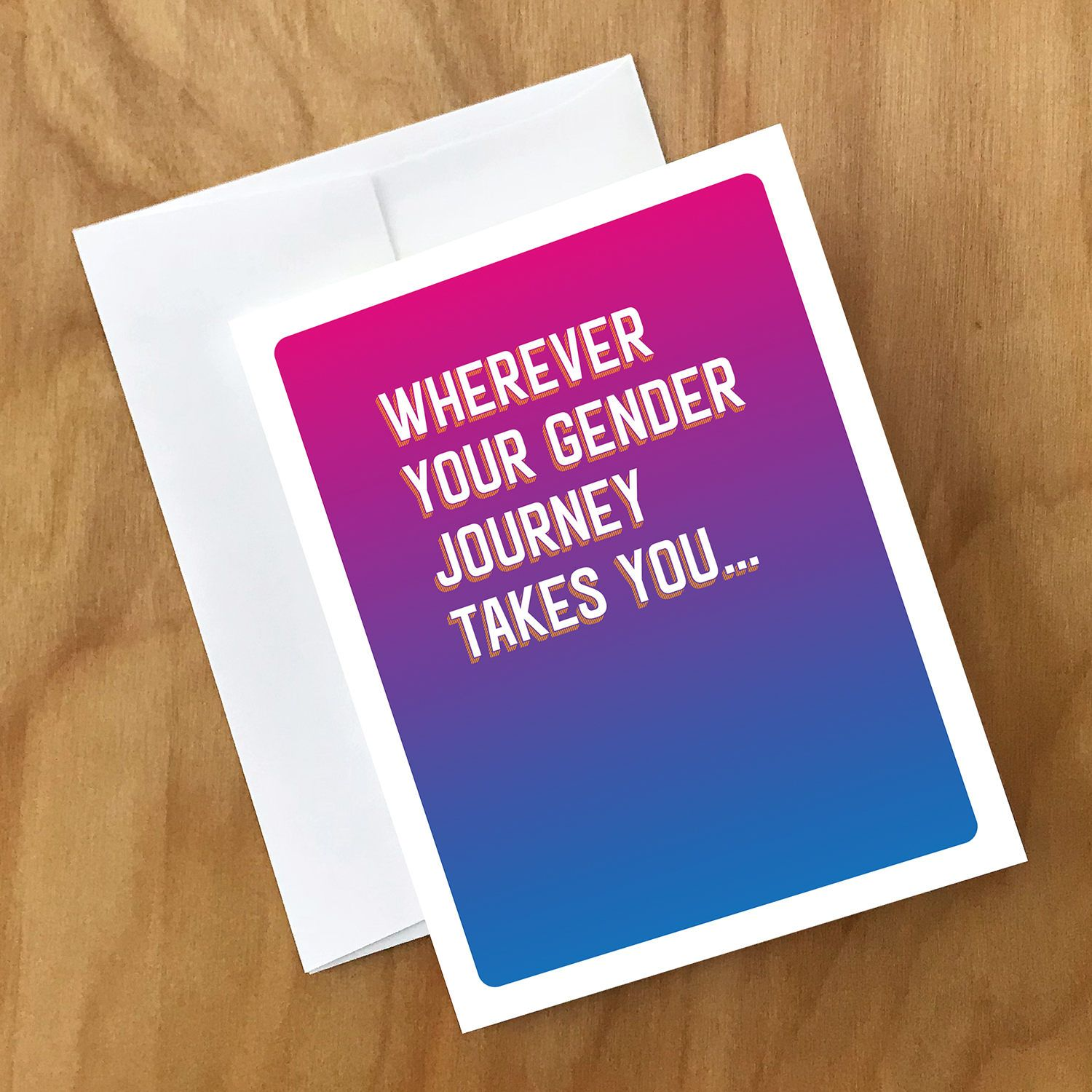 Excited To Share The Latest Addition To My Etsy Shop Encouragement Card For Gender Journey Or Transition Http Etsy Me 2fyn Encouragement Cards Cards Gender