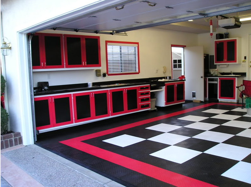 Garage Renovation Ideas racedeck #garageflooring makes for some cool garages like this one