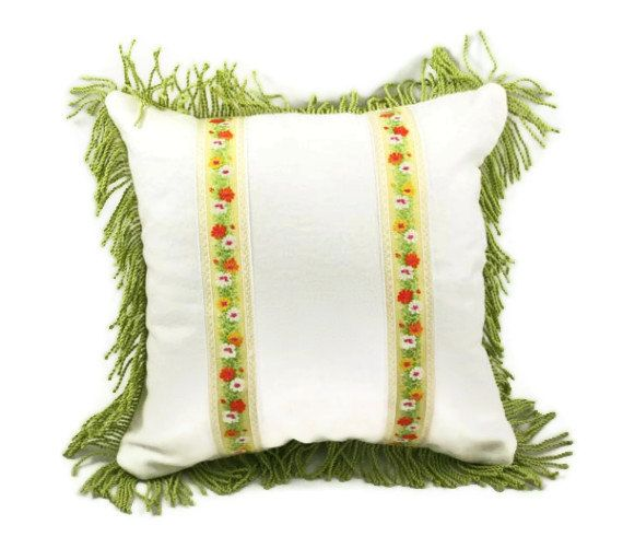 Decorative Pillow Case Off White Linen by squirrelonaledgetop, $40.00