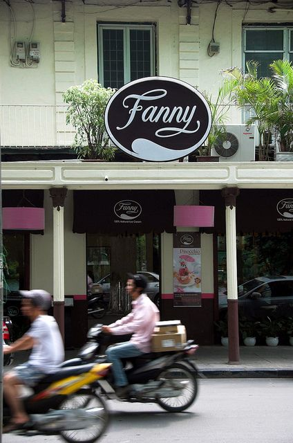 Fanny ice cream parlor in Hanoi - one of the coolest ice cream parlors I've ever seen!