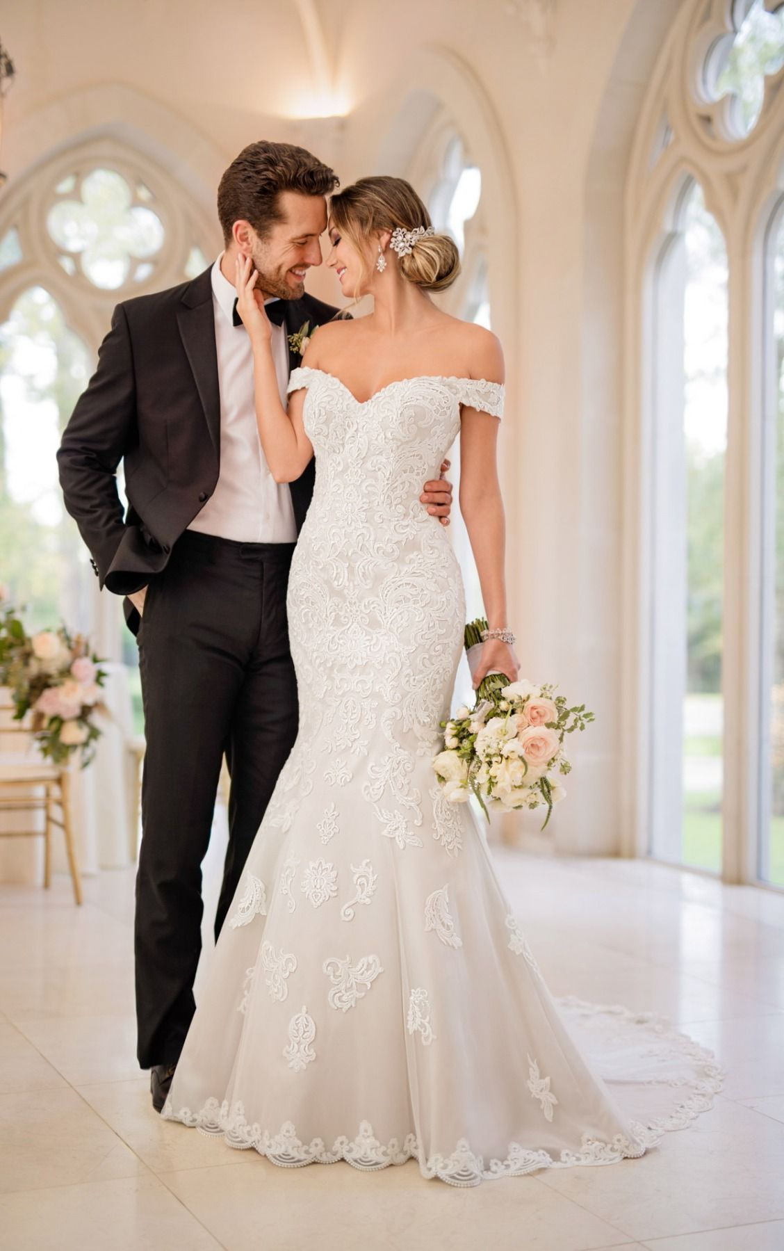 A timeless glamorous style this mermaid wedding dress from stella