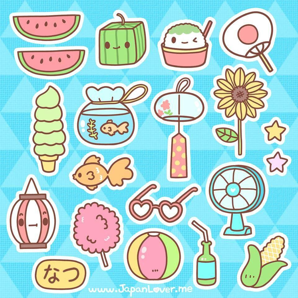 kawaii summer ☆彡 | 女の子が気になる絵のキャラ | pinterest