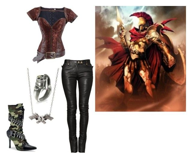 """Ares"" by dazinhamonteiro ❤ liked on Polyvore featuring Rock Rebel, Calibro 12, Balmain and Ares"