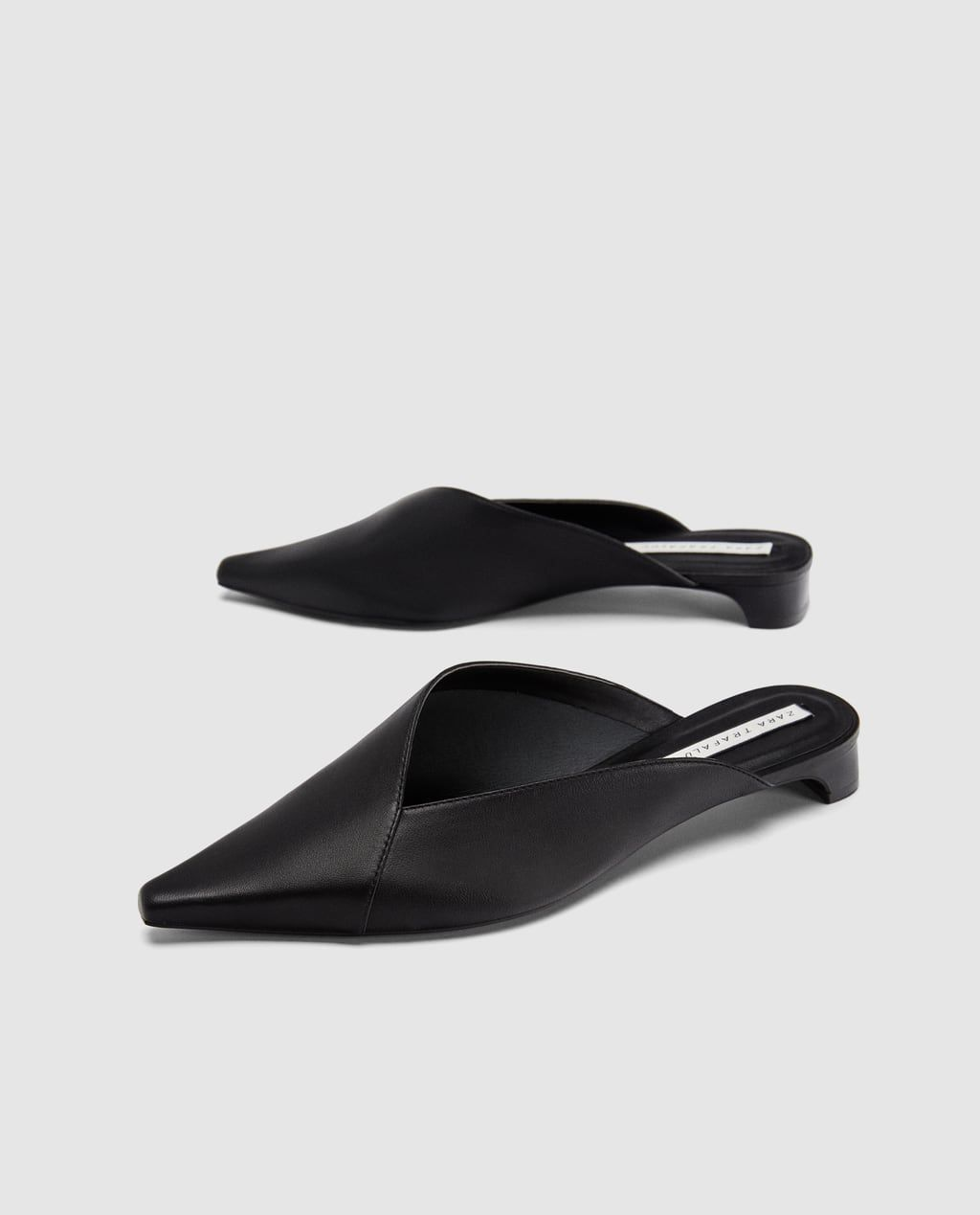 3be66ed613 ASYMMETRIC LEATHER MULES-SHOES-WOMAN-NEW COLLECTION | ZARA United States