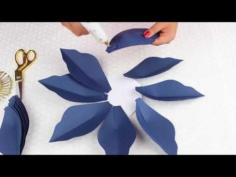 Flor de papel y paso a paso del centro recortado a mano moldes flor de papel y paso a paso del centro recortado a mano moldes gratis paper flower youtube mightylinksfo