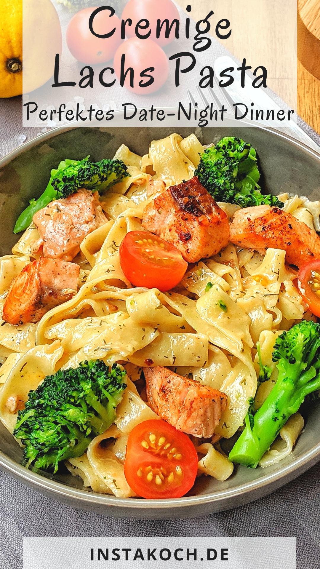 Cremige Lachs Pasta mit Brokkoli und Tomaten - Einfach und genial lecker #dishesfordinner