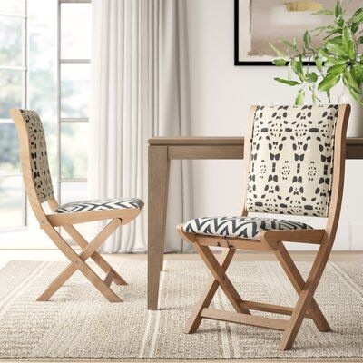 Mistana Durango Upholstered Dining Chair Solid Wood