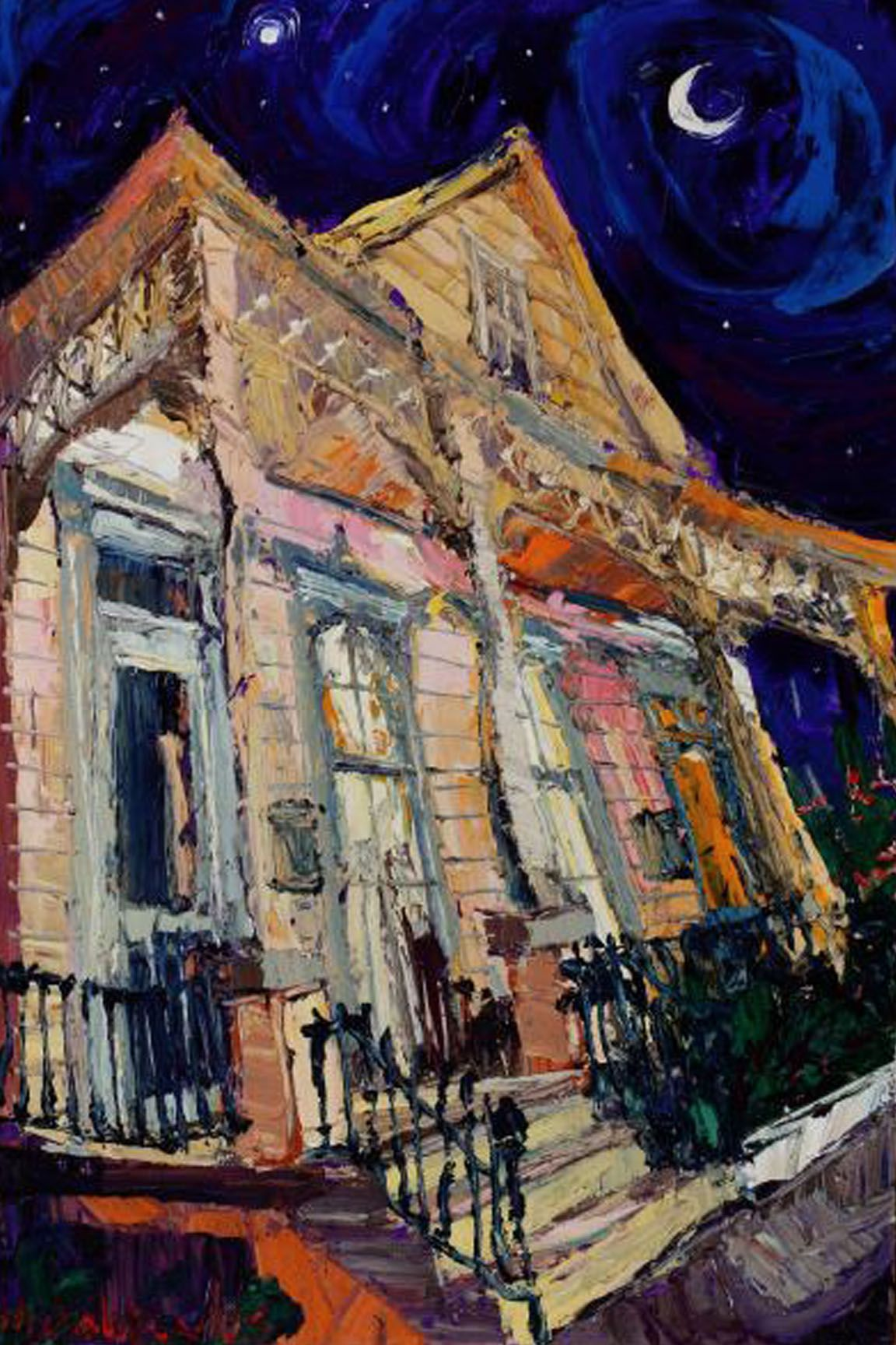 Nice Painting Of A Shotgun House In New Orleans Art I