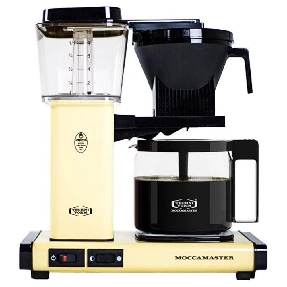 MOCCAMASTER KBG 10Cup Butter Yellow Drip Coffee Maker