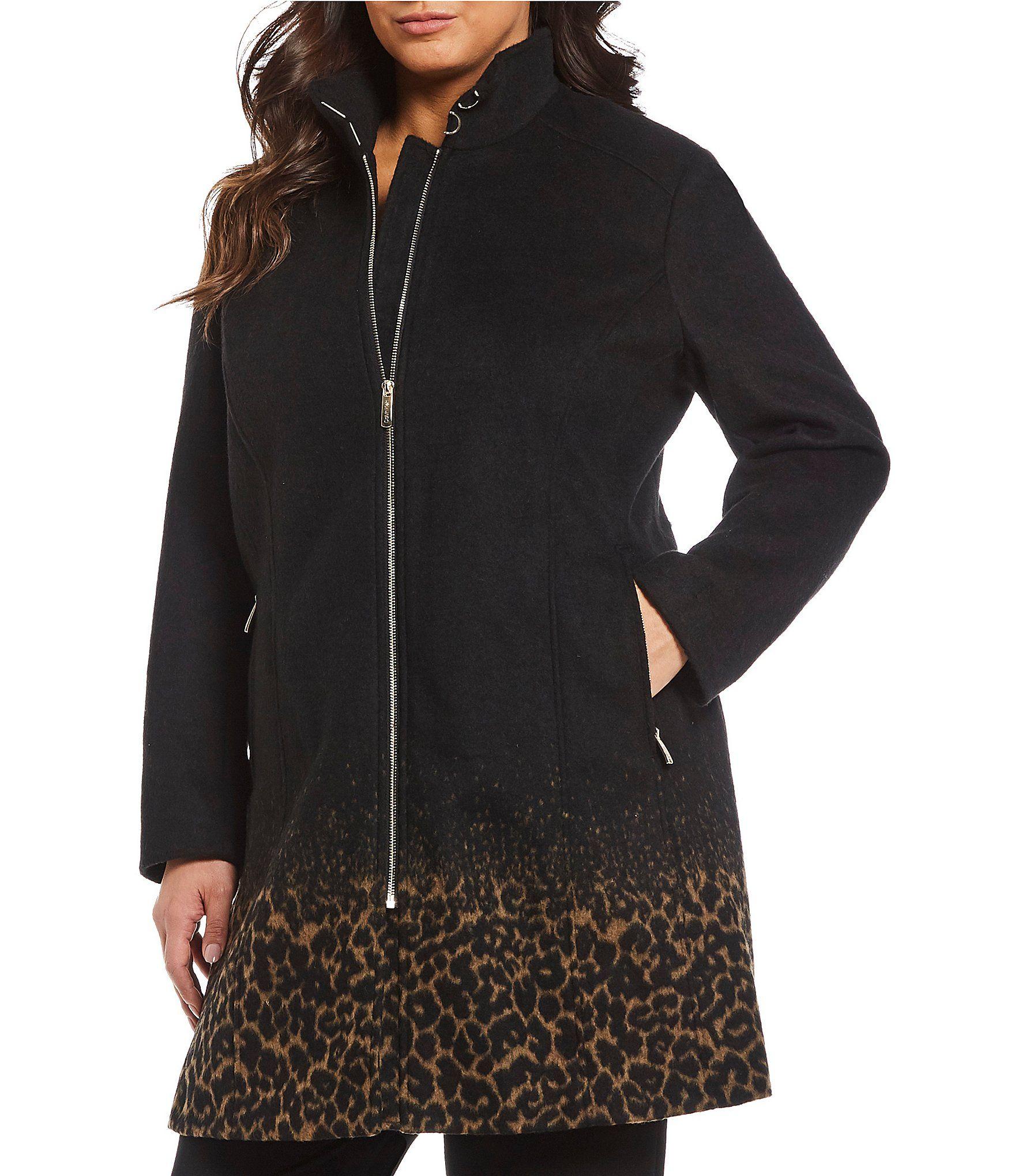 389ca799f94 Shop for Calvin Klein Plus Size Single Breast Leopard Print Walker Coat at  Dillards.com. Visit Dillards.com to find clothing