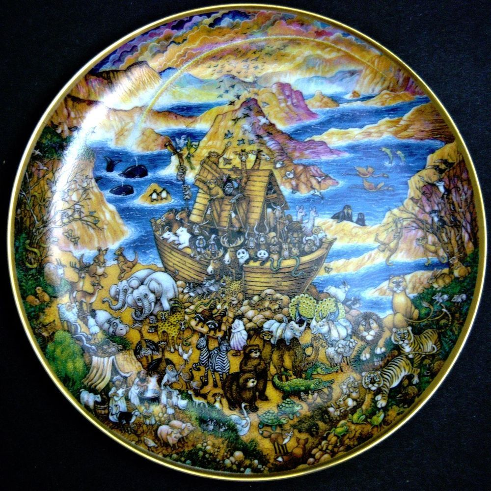 franklin mint two by two biblical noah u0027s ark porcelain collector