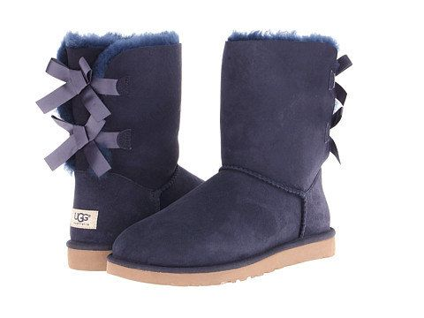 ae677d169f1 UGG Bailey Bow Navy blue | < shoe shine > | Shoes, Ugg boots cheap ...