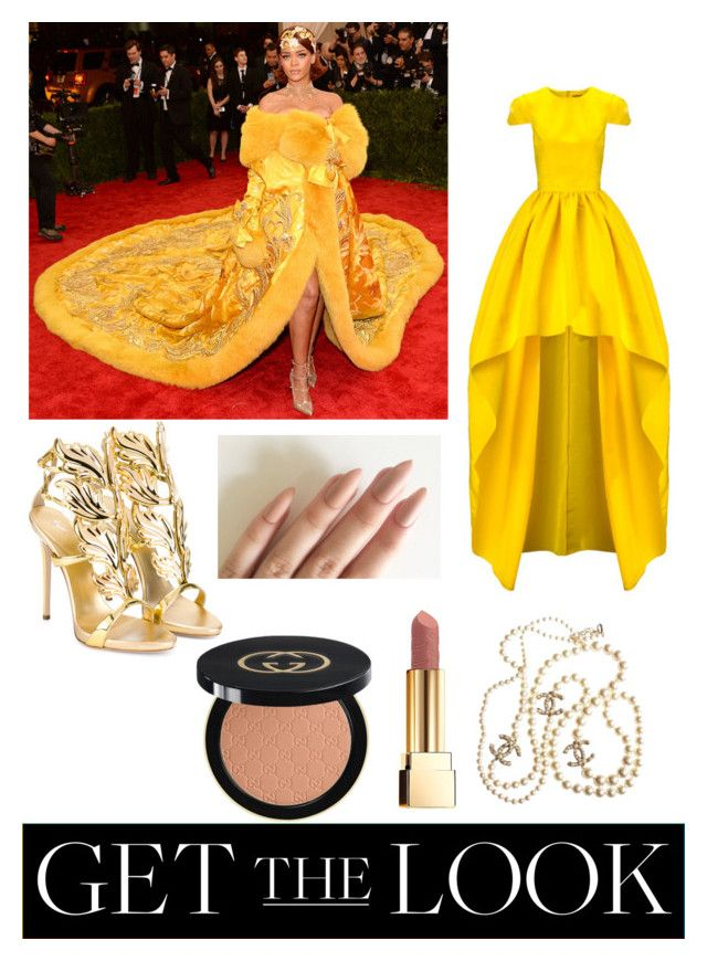"""""""Get the Look: Met Gala 2016"""" by clairepardoo ❤ liked on Polyvore featuring GALA, Giuseppe Zanotti, Chanel, Yves Saint Laurent, Gucci, GetTheLook and MetGala"""