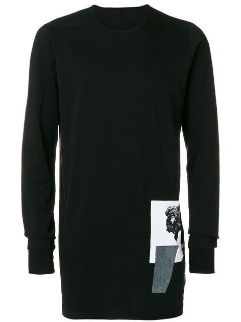 7adc8404 Rick Owens Drkshdw Patch Appliqué Sweatshirt $493 - Buy AW17 Online - Fast  Delivery, Price