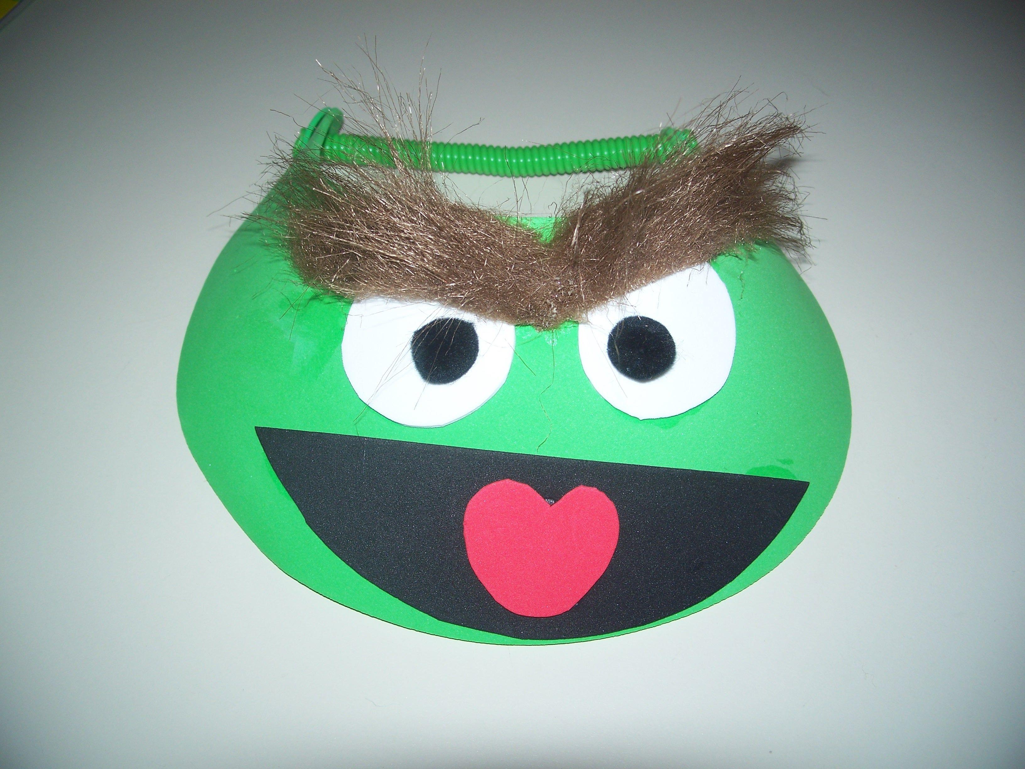 Oscar the grouch visor sesame street party halloween