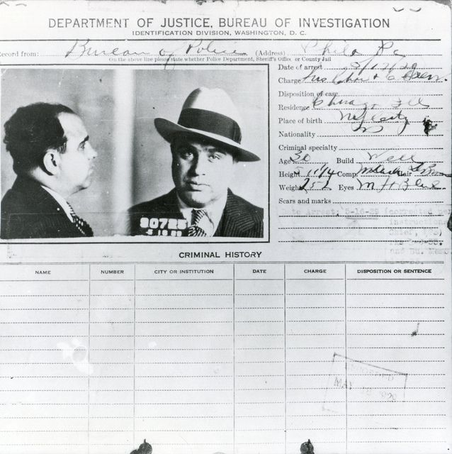 "a biography of alphonse capone a criminal Alphonse gabriel ""al"" capone rose to infamy as a gangster in chicago during the 1920s and early 1930s search  capone's criminal record in 1932 on february 28, 1931, capone was found ."