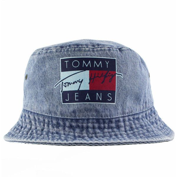Vintage Tommy Jeans Bucket Hat ( 30) ❤ liked on Polyvore featuring  accessories 2c7f78d3454